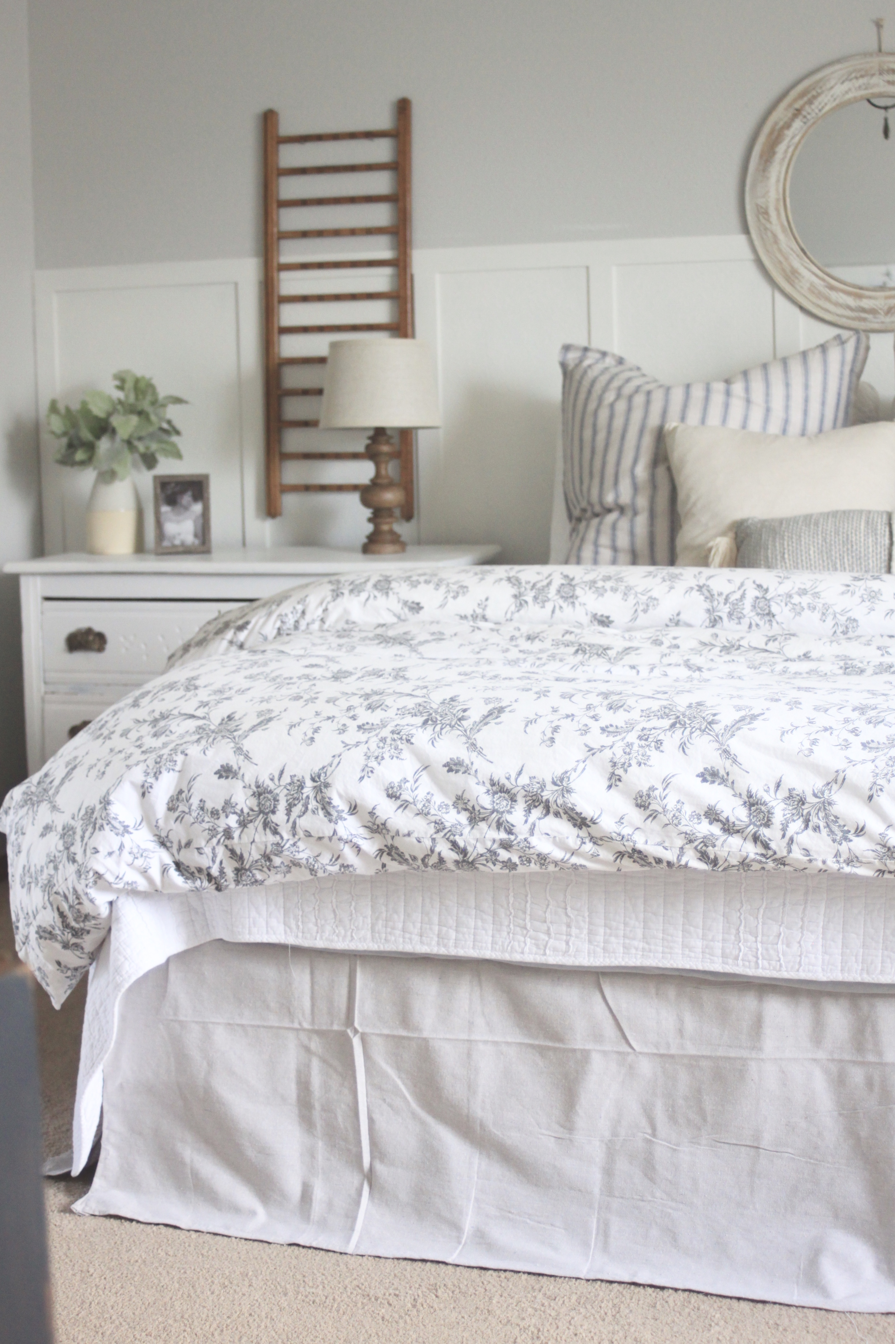 Diy Bedskirt Using One 9x12 Dropcloth Hand Gathered Home