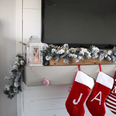 Cheap and Easy Christmas Mantel in 3 Simple Steps