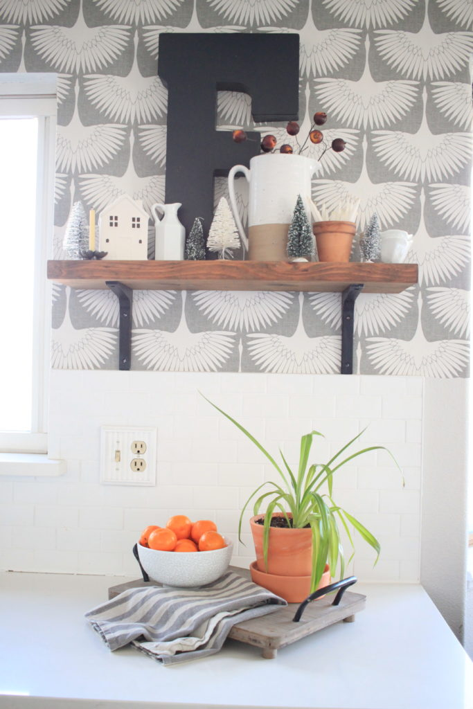 Simple Kitchen Refresh with Temporary Wallpaper'