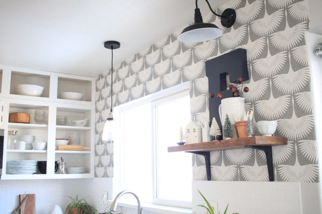 Simple Kitchen Refresh with Temporary Wallpaper