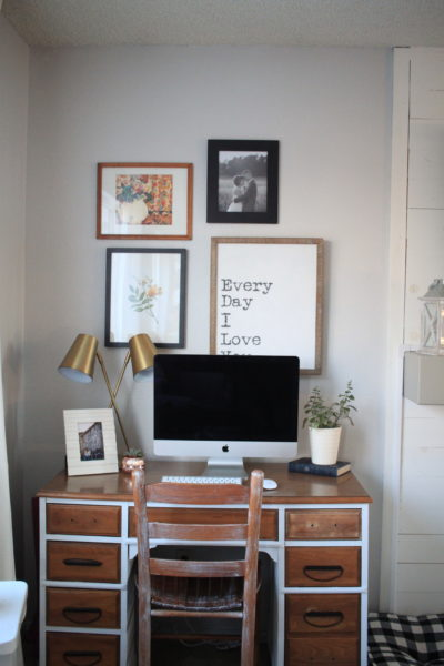 Clean and Bright Eclectic Desk Space