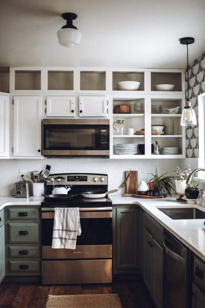 How to make your builder grade cabinets look more expensive